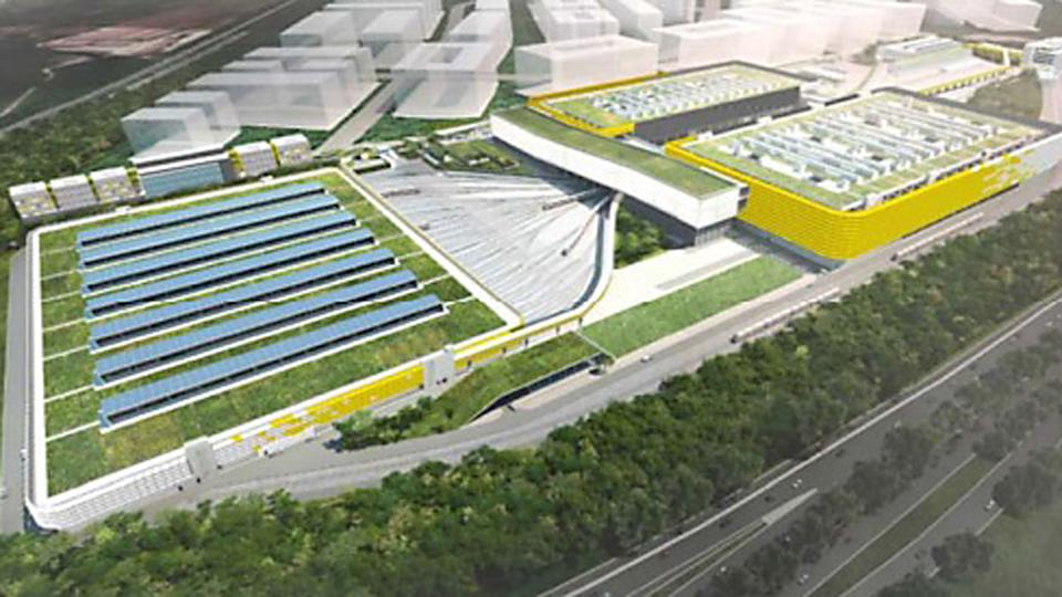 An artist's impression of the completed Tuas Depot. (IMAGE: LTA)