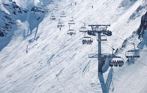 Lifts in Les Deux Alpes - Credit: GETTY