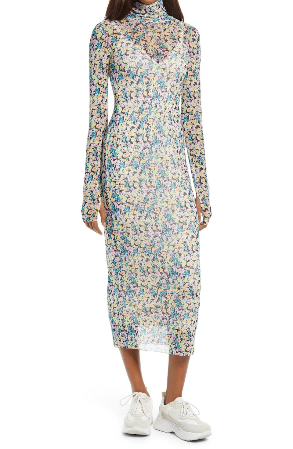 <p>This <span>AFRM Shailene Sheer Long Sleeve Dress</span> ($37, originally $88) is a great transitional layer, thanks to the turtleneck and the long sleeves. Finish off the look with sneakers or boots, and you'll be ringing in the new season.</p>
