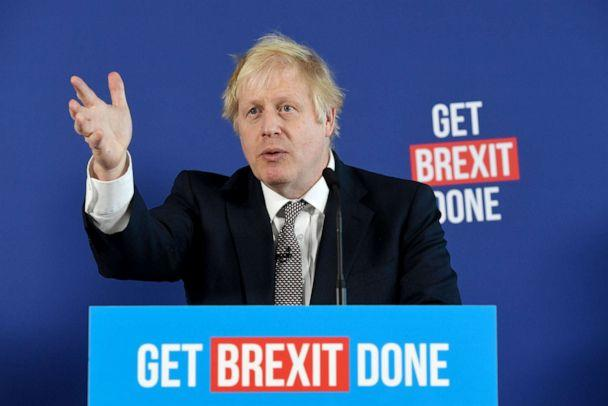 PHOTO: Britain's Prime Minister and Conservative leader Boris Johnson takes part in a press conference about Brexit and the general election in London, Nov. 29, 2019. (Facundo Arrizabalaga/EPA via Shutterstock)