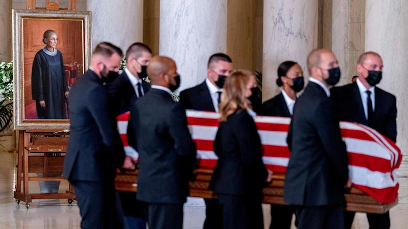 Mourners pay homage to Ruth Bader Ginsburg at US Supreme Court