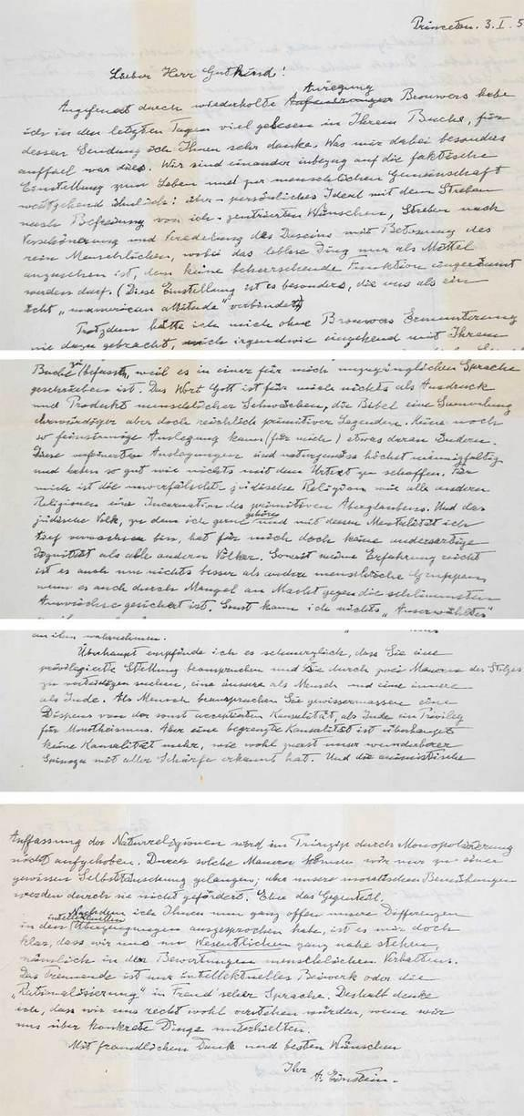 Einsteins letter questioning god goes up for auction auction for einstein god letter opens with anonymous 3 million bid thecheapjerseys Choice Image