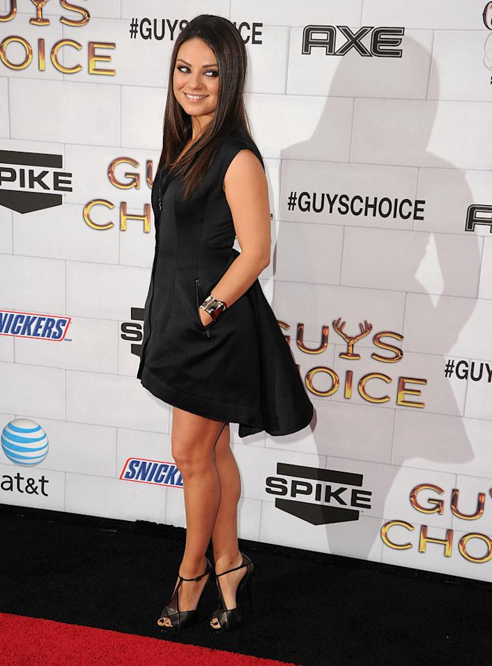 "Mila Kunis attends Spike TV's 6th Annual ""Guys Choice"" Awards at Sony Studios on June 2, 2012 in Los Angeles, California."