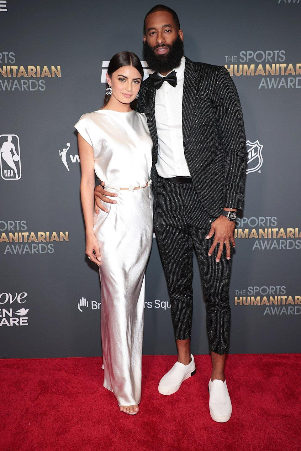Rachael Kirkconnell and Matt James attend the 2021 Sports Humanitarian Awards on July 12, 2021 in New York City