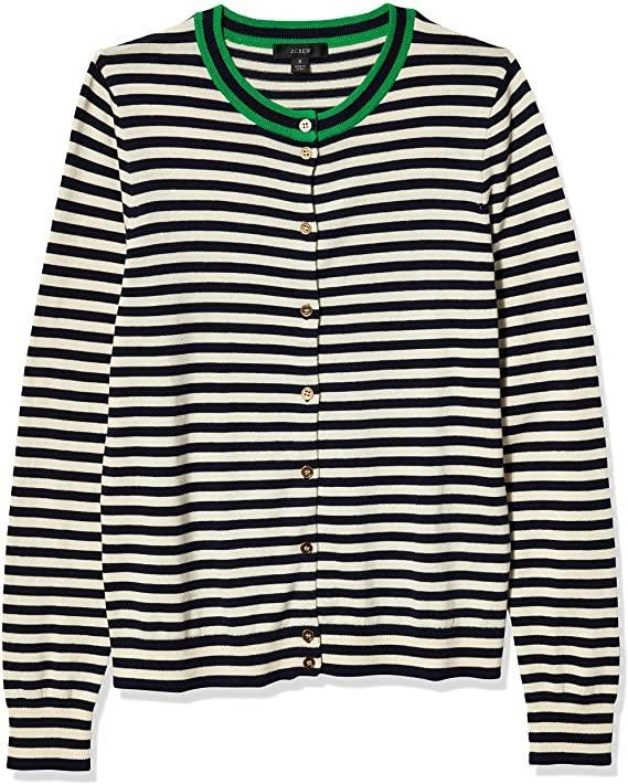 "<h2>J.Crew Mercantile Striped Cardigan</h2> <br>""I need another striped item like a hole in my head, but here we are. I snagged this during <a href=""https://www.refinery29.com/en-us/2020/06/9874087/amazon-big-style-sale-best-fashion-deals"" rel=""nofollow noopener"" target=""_blank"" data-ylk=""slk:Amazon's Big Style Sale"" class=""link rapid-noclick-resp"">Amazon's Big Style Sale</a> and don't regret it one bit — it's made from feather-light cotton so it's a perfect weight for summer. I bought it in a size bigger than I normally wear so that I can keep it completely buttoned and wear it like a shirt. (I'll add more layers when fall rolls around.)"" <em>– Emily Ruane, Fashion Market Writer</em><br><br><em>Shop <strong><a href=""https://amzn.to/2ACZILY"" rel=""nofollow noopener"" target=""_blank"" data-ylk=""slk:J.Crew Mercantile"" class=""link rapid-noclick-resp"">J.Crew Mercantile</a></strong></em><br><br><strong>J.Crew Mercantile</strong> Striped Cardigan, $, available at <a href=""https://amzn.to/2AxpSQ3"" rel=""nofollow noopener"" target=""_blank"" data-ylk=""slk:Amazon"" class=""link rapid-noclick-resp"">Amazon</a><br><br><br>"