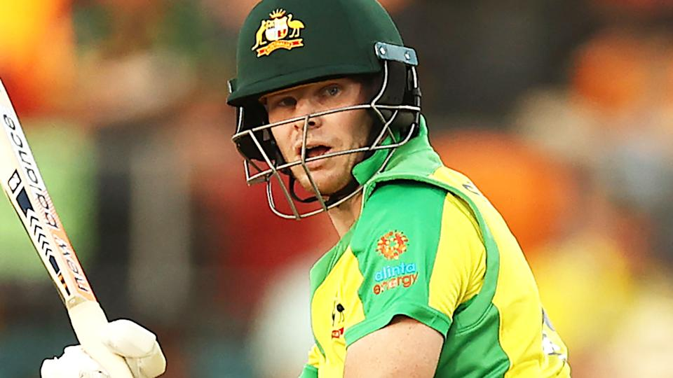 Steve Smith, pictured here during the third ODI between Australia and India.