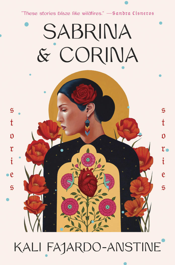 """This cover image released by One World shows """"Sabrina & Corina,"""" by Kali Fajardo-Anstine. The book is among this year's finalists for the 70th annual National Book Awards. The winners will be announced Nov. 20 at a benefit dinner presented by the National Book Foundation in New York. (One World via AP)"""
