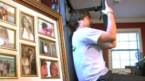 <p>This is how MTV found him in his house. Casually benching weights next to elaborately framed photos of himself and Kayla. </p>