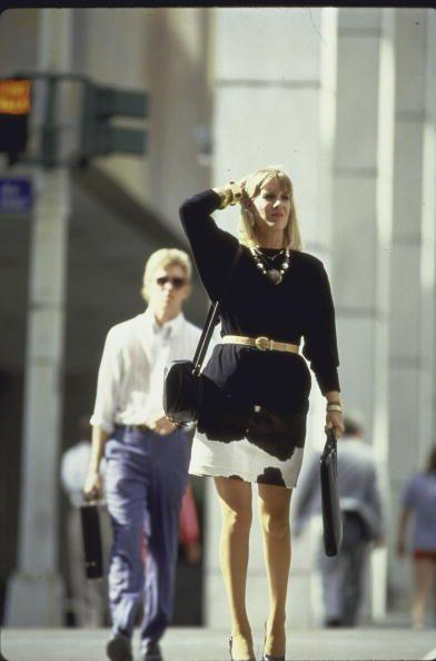 <p>This dress might actually still be in your mom's closet. (Whether she can still get away with it is not our decision.)</p>
