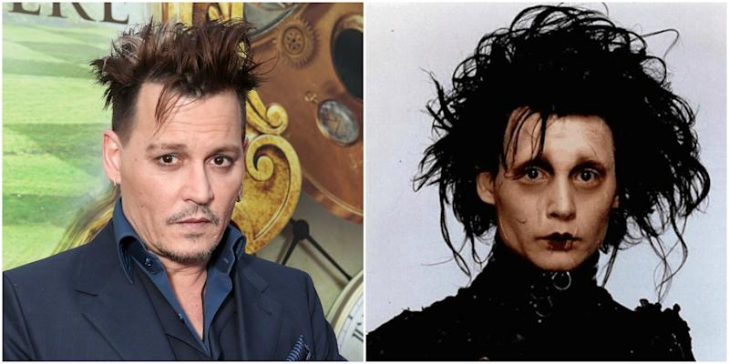 Johnny Depps New Haircut Might Just Be Inspired By Edward Scissorhands