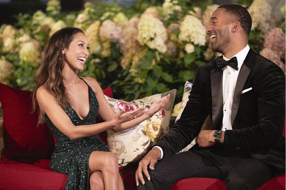 """<p>Jaclyn Swartz, a contestant on Ben Flajnik's season, told <a href=""""https://fashionista.com/2017/01/the-bachelor-rose-ceremony-dresses"""" rel=""""nofollow noopener"""" target=""""_blank"""" data-ylk=""""slk:Fashionista"""" class=""""link rapid-noclick-resp""""><em>Fashionista</em></a> that producers and the lead stylist, Cary Fetman, go around to each woman's hotel room and approve night one dresses. If you think that prevents two women from wearing the same dress, <a href=""""https://www.cosmopolitan.com/entertainment/tv/a35154384/demi-burnett-bachelor-producers-set-contestants-same-dresses/"""" rel=""""nofollow noopener"""" target=""""_blank"""" data-ylk=""""slk:you're wrong"""" class=""""link rapid-noclick-resp"""">you're wrong</a>. Producer sabotage? I think yes.</p>"""