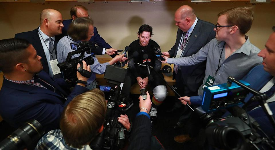 It has been said that rules are meant to be broken in life. That is definitely not true in an NHL dressing room. (Getty)