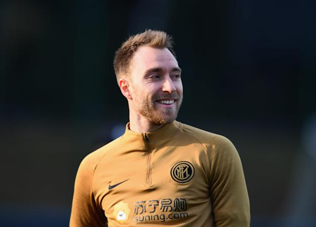 Christian Eriksen is officially an Inter Milan player. (Photo by Claudio Villa - Inter/Inter via Getty Images)