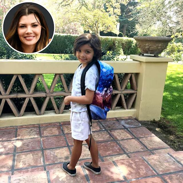 "<p>Mom-of-three Ali Landry shared a photo of her middle child's ""1st day of school"" as a kindergartener. For the record, ""Yes, I totally cried!!!!!"" she noted. (Photos: <a href=""https://www.instagram.com/p/BX0ma-gDG6B/?hl=en&taken-by=alilandry"" rel=""nofollow noopener"" target=""_blank"" data-ylk=""slk:Ali Landry via Instagram"" class=""link rapid-noclick-resp"">Ali Landry via Instagram</a>/AP Images) </p>"