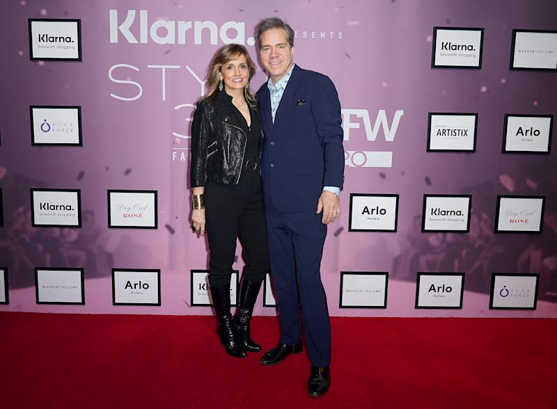 NEW YORK, NEW YORK - FEBRUARY 12: Andy Hilfiger and Kim Hilfiger attend Klarna STYLE360 Hosts Andy Hilfiger Presents Artistix By Greg Polisseni Presentation/See & Shop on February 12, 2020 in New York City. (Photo by Thomas Concordia/Getty Images for Style360)