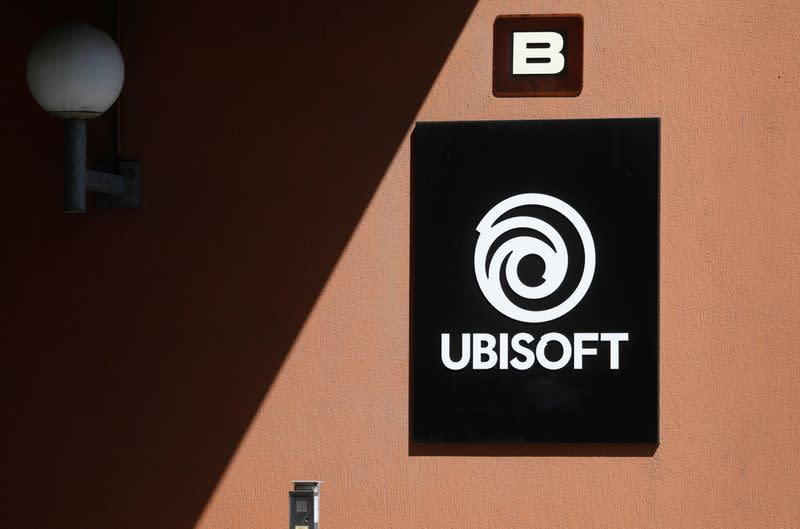The logo of Ubisoft is seen in Montreuil