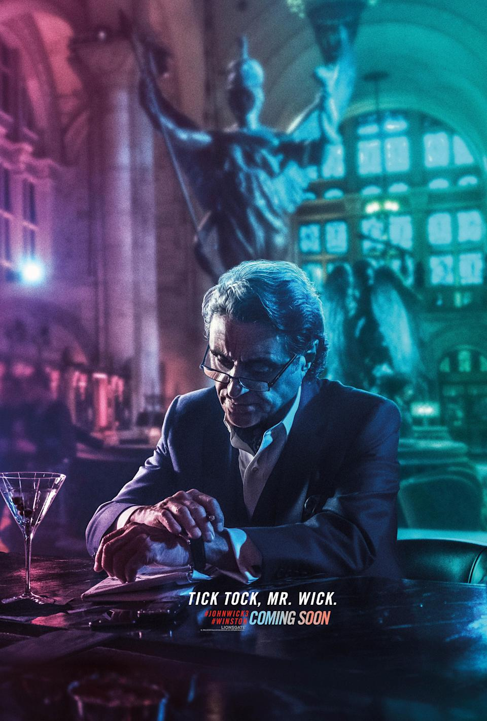 <p>One of John Wick's friends turned foes – the manager of the New York Continental gave John Wick a running start after he broke the rules in the last film, but he's now clearly impatiently waiting for his gang of assassins to catch up with him. </p>