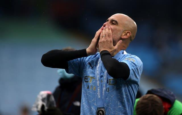 Pep Guardiola has won the Premier League and guided City to the Champions League final after opting to renew his contract