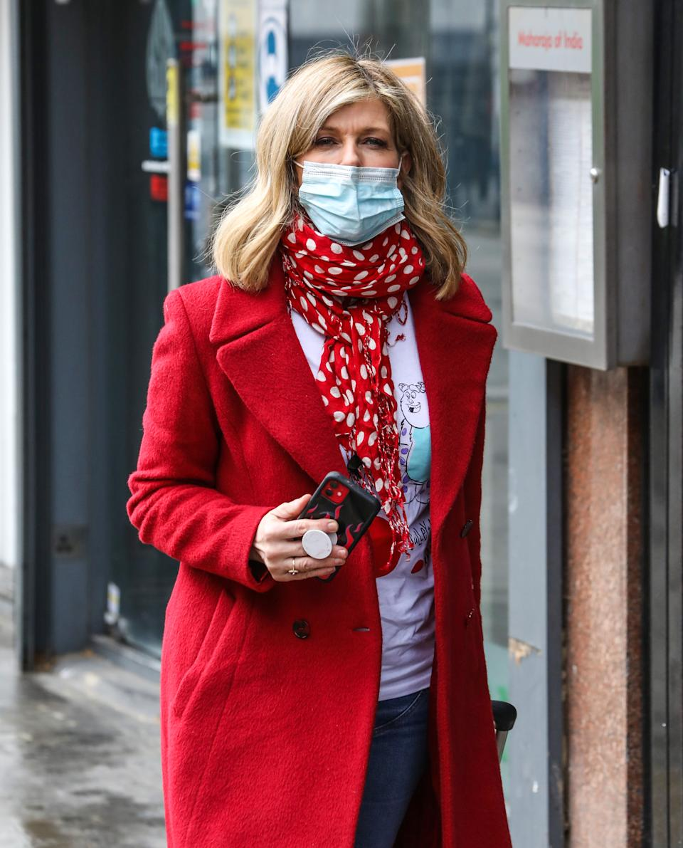 LONDON, UNITED KINGDOM - 2021/03/12: Kate Garraway seen arriving for her Smooth FM show at the Global Radio Studios in London. (Photo by Brett Cove/SOPA Images/LightRocket via Getty Images)