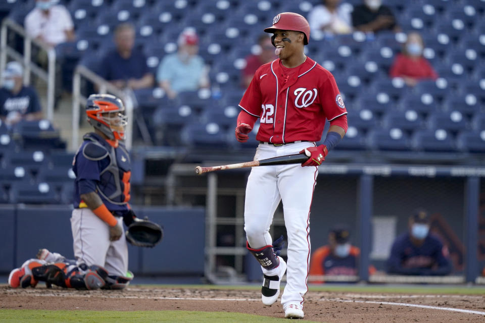 Washington Nationals' Juan Soto (22)