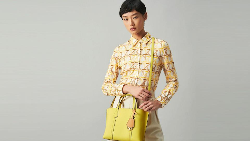 Brighten up your summer wardrobe with a brightly hued bag.