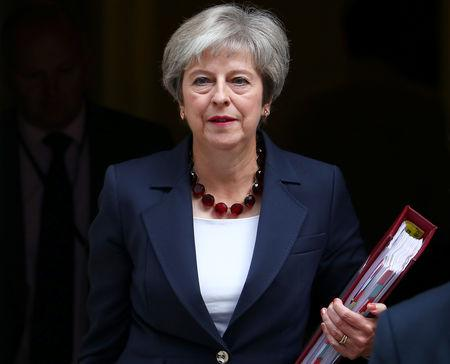 FILE PHOTO: Britain's Prime Minister Theresa May leaves 10 Downing Street in London, September 5, 2018. REUTERS/Hannah McKay