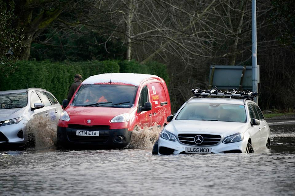 <p>There are over 200 flood warnings in place across the UK</p> (Getty Images)