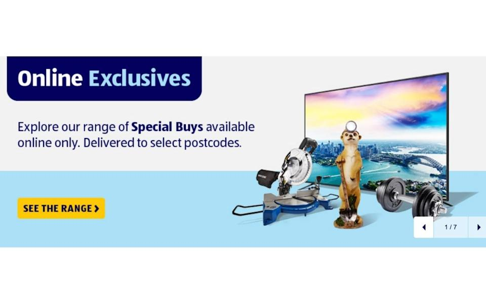 Special Buys online announcement. Source: Aldi
