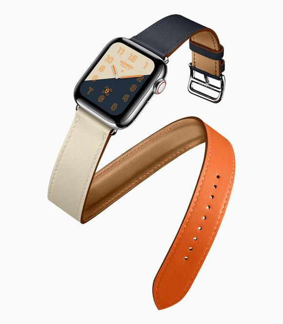 Apple Watch Hermes with double tour leather band