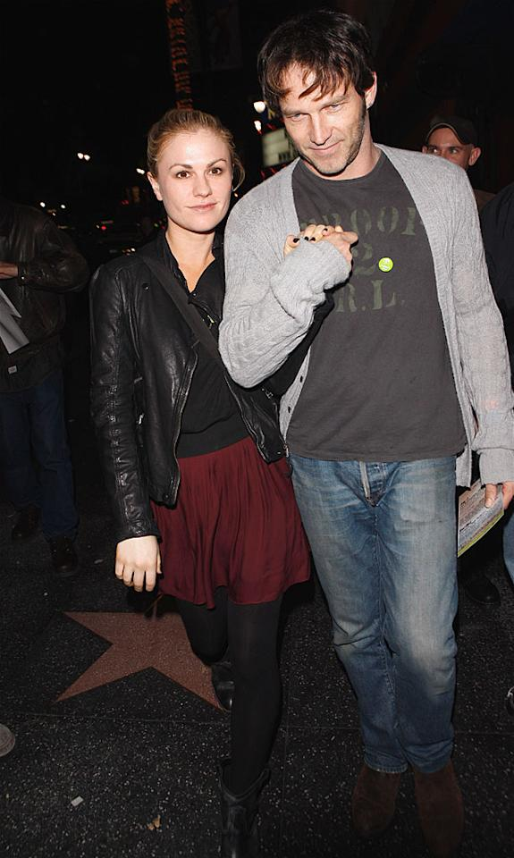 """True Blood's"" Anna Paquin and her husband-to-be Stephen Moyer were just two of the famous faces in attendance. Despite their 12-year age difference, they're quite a cute couple. Maciel/<a href=""http://www.x17online.com"" target=""new"">X17 Online</a> - January 24, 2010"