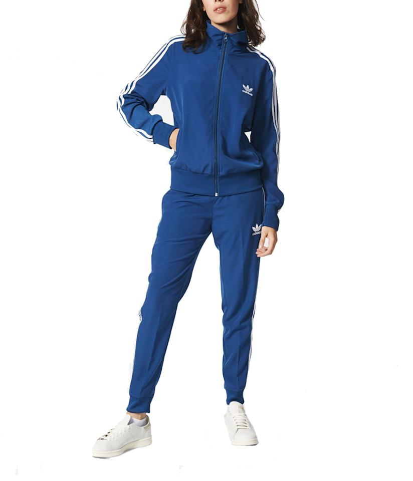 """<p>Sale: Save up to 50% on select accessories, tracksuits, outerwear, fleece, graphic and ultimate tees <br /> Where: Online <br /> When: 11/25-28 <br /> Regular Cuffed Track Pants, $46, <a rel=""""nofollow"""" href=""""http://www.adidas.com/us/regular-cuffed-track-pants/AY8401.html"""">adidas.com</a><br /> Firebird Track Jacket, $49, <a rel=""""nofollow"""" href=""""https://www.adidas.com/us/firebird-track-jacket/AY8391.html"""">adidas.com</a> </p>"""