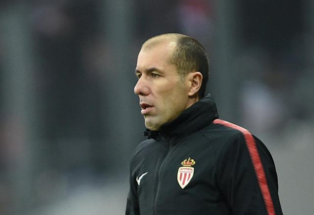 Soccer Football - Ligue 1 - Toulouse vs AS Monaco - Stadium Municipal de Toulouse, Toulouse, France - February 24, 2018 Monaco coach Leonardo Jardim reacts REUTERS/Fred Lancelot