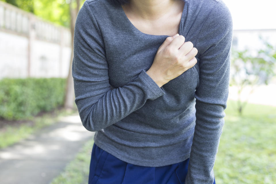 Although not a recognised condition, many women report symptoms such as fatigue and pain, which they believe is linked to their implants [Photo: Getty]