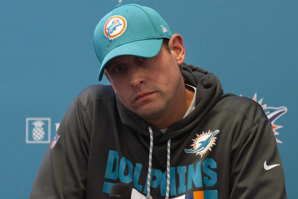 The Dolphins fired Adam Gase after three seasons as head coach. (AP)