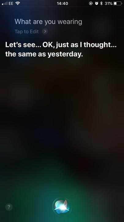funny questions to ask siri wearing 2