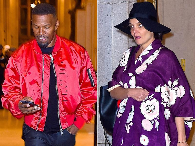Katie Holmes and Jamie Foxx Caught Leaving Restaurant Separately After Date Night in N.Y.C.