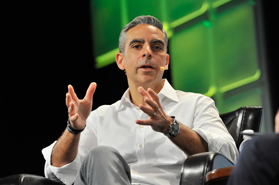 SAN FRANCISCO, CA - SEPTEMBER 12:  Vice President of Messaging Products at Facebook David Marcus speaks onstage during TechCrunch Disrupt SF 2016 at Pier 48 on September 12, 2016 in San Francisco, California.  (Photo by Steve Jennings/Getty Images for TechCrunch)