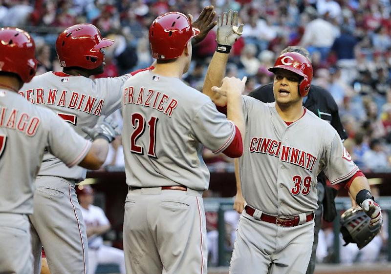 Mesoraco's slam leads Reds past D-Backs 6-4