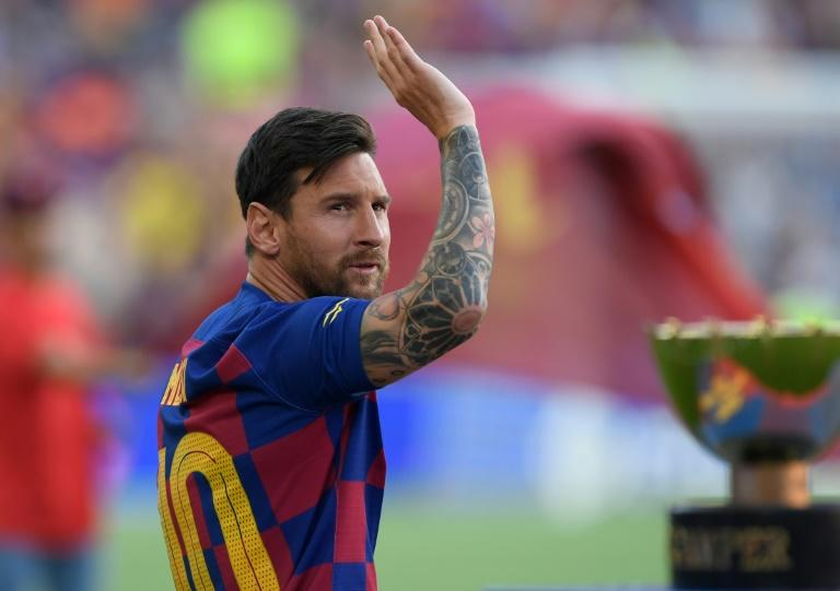 Lionel Messi missed Barcelona's opening defeat by Athletic Bilbao with a calf injury