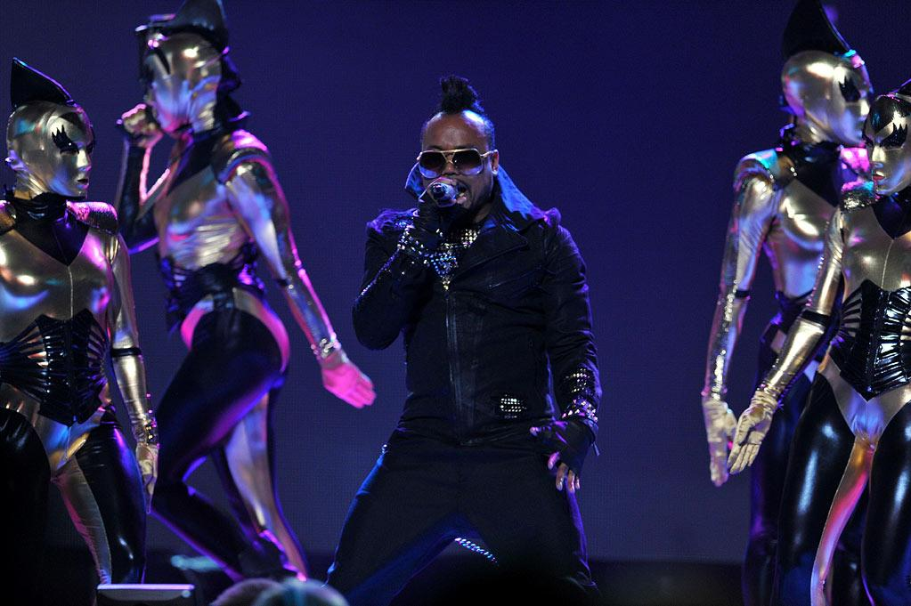 """apl.de.ap of the Black Eyed Peas performs on <a href=""""/american-idol/show/34934"""">""""Idol Gives Back.""""</a>"""