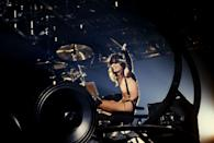 <p>Lee used several memorable gimmicks during his drum solos at concerts, including a revolving and spinning set as well as rigging his drums to float above the crowd while he played.</p>