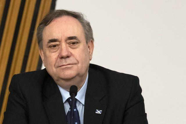 Alex Salmond in Holyrood committee