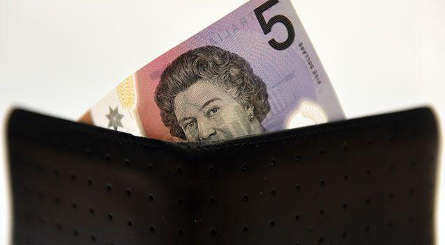 Putting a $5 note away after every purchase could help accumulate savings. Source: AAP