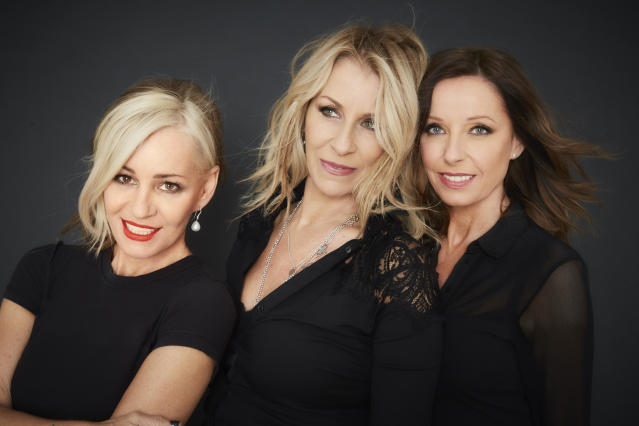 Bananarama's Siobhan Fahey, Sarah Dallin, and Keren Woodward in 2017. (Photo: BBGun Press)