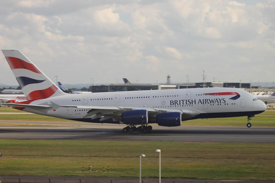 Rare sight: British Airways' Airbus A380 jets are currently stored (British Airways)
