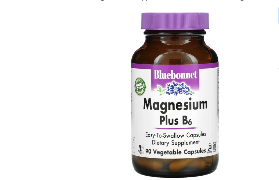 Bluebonnet Nutrition, Magnesium Plus B6. (PHOTO: iHerb Singapore)