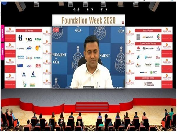 Goa Chief Minister Pramod Sawant while speaking at the Assocham Foundation Week on Thursday. (Photo/ANI)