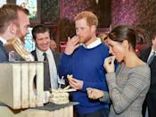 """<p>Having spent years in Canada shooting <em>Suits</em>, Meghan mastered poutine. Mozz is <em>not </em>the way to top it all of, she <a href=""""https://www.delish.com/food/g21603082/meghan-markle-diet/"""" rel=""""nofollow noopener"""" target=""""_blank"""" data-ylk=""""slk:said"""" class=""""link rapid-noclick-resp"""">said</a>. """"It's got to squeak when you bite into it. Really. The cheese curds should make a squeaking noise when you bite into them or squeeze them. That's how you know you've got the right kind.""""</p>"""