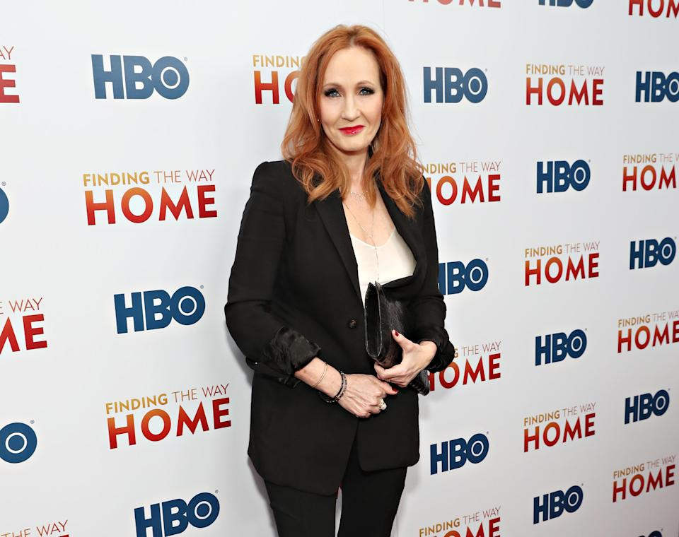 """J.K Rowling attends HBO's """"Finding The Way Home"""" World Premiere at Hudson Yards on December 11, 2019 in New York City. (Photo by Cindy Ord/WireImage,)"""