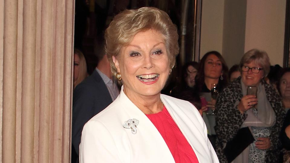 Angela Rippon on the red carpet (Keith Mayhew / SOPA Images/Sipa USA)